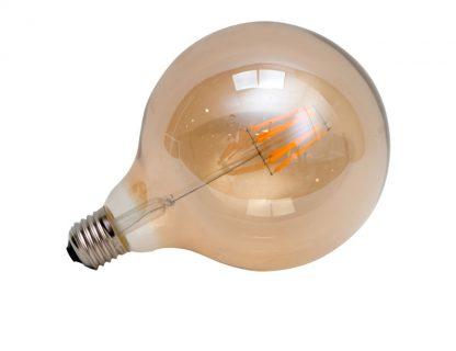 Bombilla filamento led globo ambar
