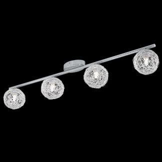 Plafón tulipas esferas aluminio
