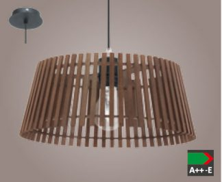 Colgante tablas madera nuez