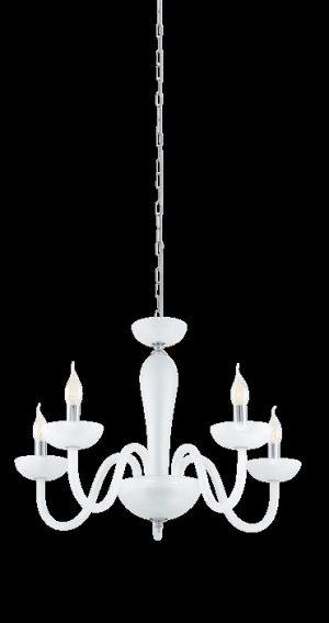 Lámpara cristal mate blanco