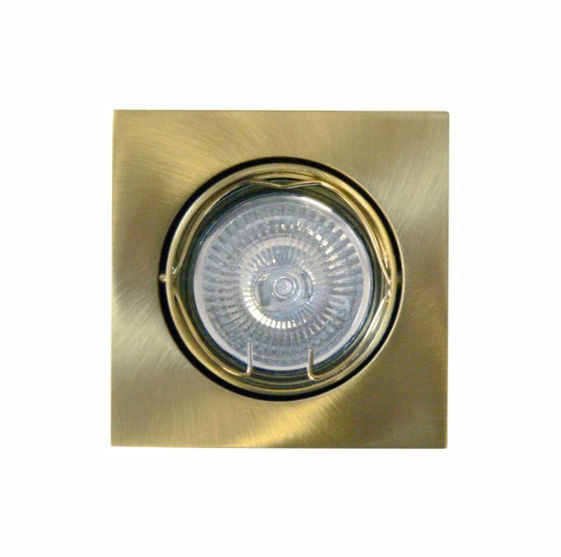 Foco empotrable cuadrado aluminio basculante oro viejo