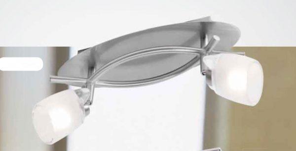 Barra 2 luces focos acerado oval