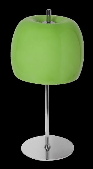 Sobremesa cromo tulipa cristal verde Trendy