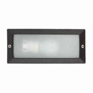 Aplique exterior empotrado rectangular negro