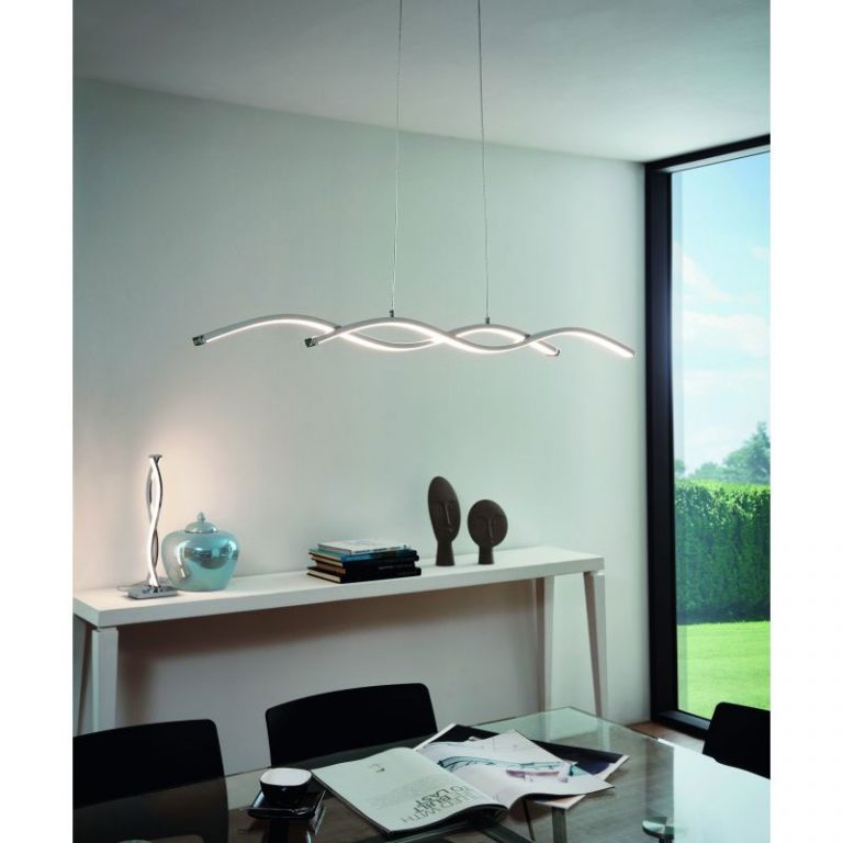 Lámpara led cromo brillo Lasana 2