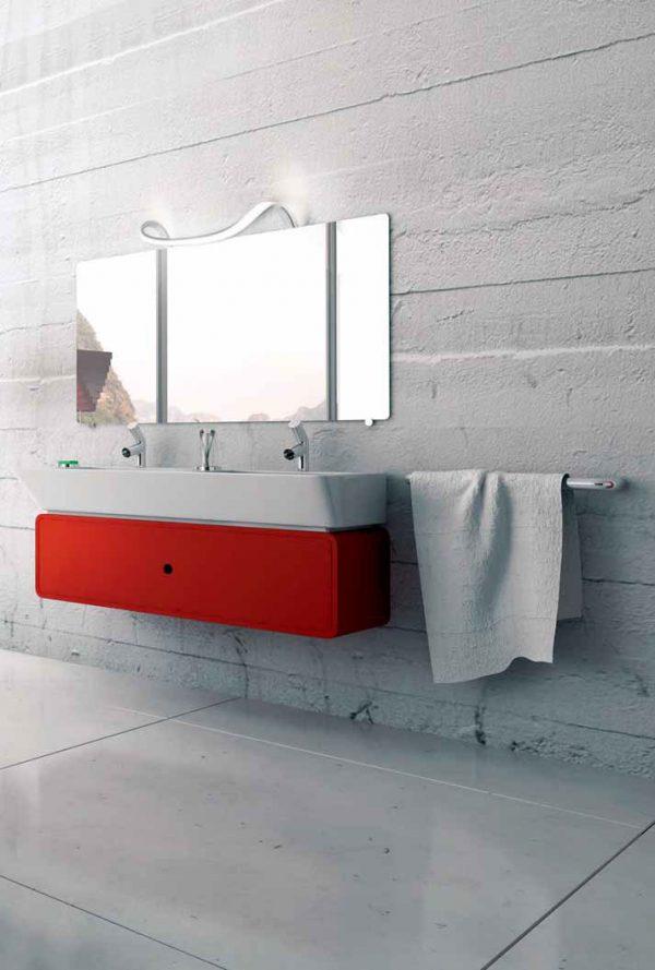 Aplique led espejo curvado Sisley