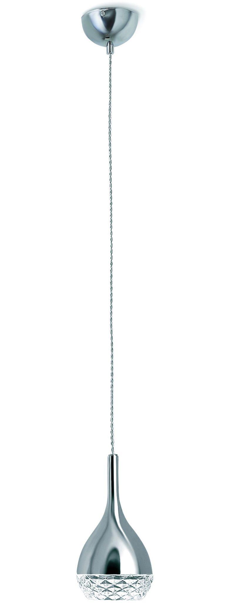 Lámpara colgante cromo Khalifa