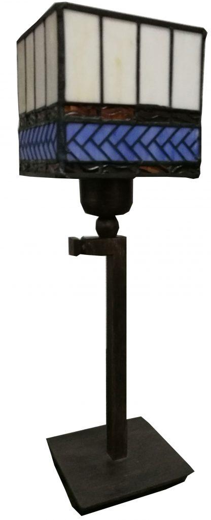 Lámpara sobremesa pantalla cubo Tiffany