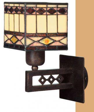 Lámpara aplique estilo rústico