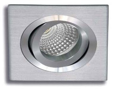 Empotrable cuadrado aluminio rayado basculante 93 mm.