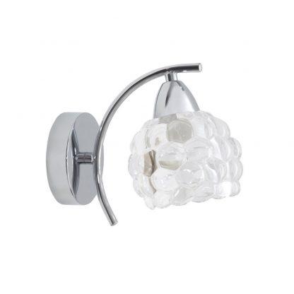 Aplique pared 1xE14 metal tulipa cristal Glass