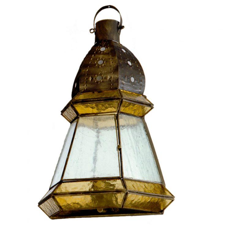 Aplique rústico cristal ambar y cuero 42x30 Ambarina