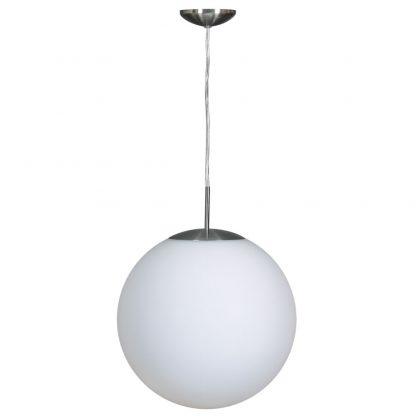 Lámpara colgante esfera cristal blanca Global