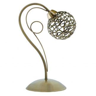 Lámpara mesa 1 luz tulipa esfera Kripton