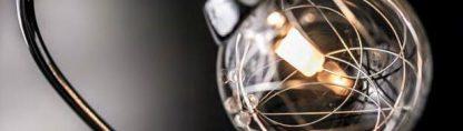 Lámpara plafón 7 luces cromo tulipa esférica Tulio