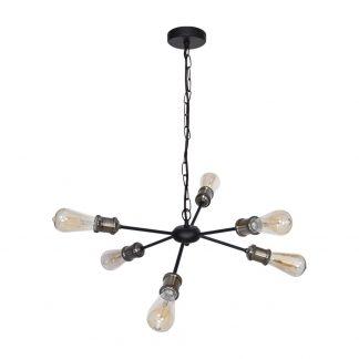 Lámpara 6 luces negra Aryana