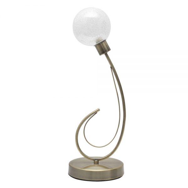 Lámpara mesa 1 luz tulipa esférica Vita
