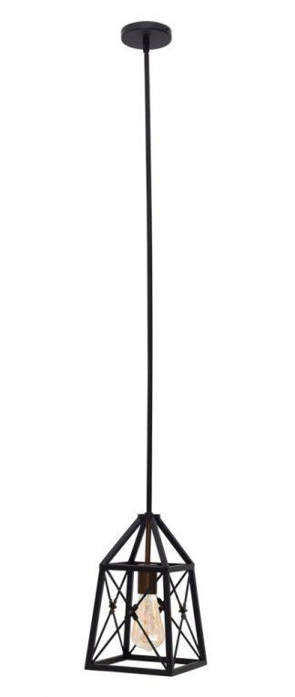 Lámpara colgante fijo negro Pavel