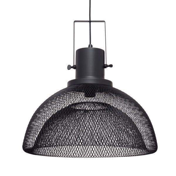 Lámpara colgante rejilla negra Lumiere 5