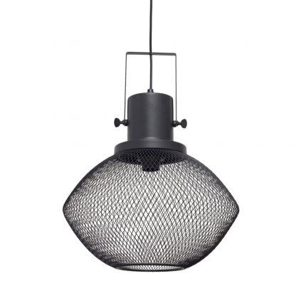 Lámpara colgante rejilla negra Lumiere 2