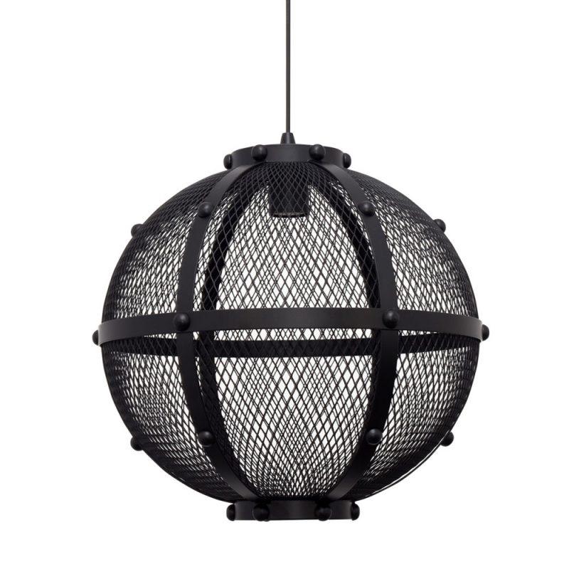 Lámpara colgante rejilla negra Lumiere 4