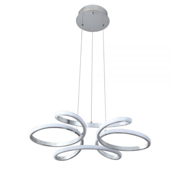 Lámpara led cromo brillo 50 cm. Dragón 3