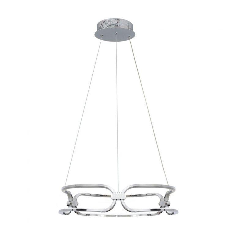 Lámpara led cromo brillo Driza