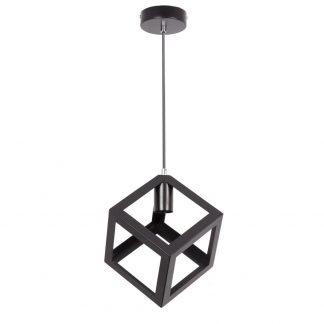 Lámpara colgante cubo negro Carlson