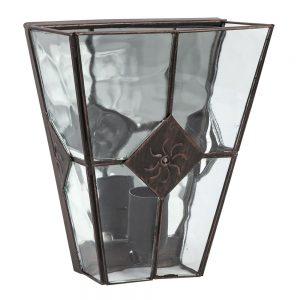 Lámpara pared metal y cristal ondulado Estepa