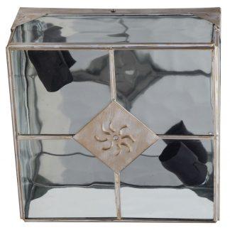 Lámpara plafón metal y cristal ondulado Estepa