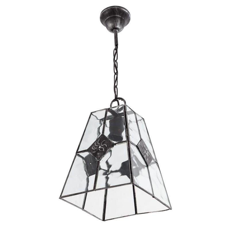Lámpara colgante metal y cristal ondulado Estepa