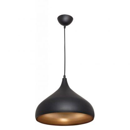 Lámpara colgante negra oro Germano 1