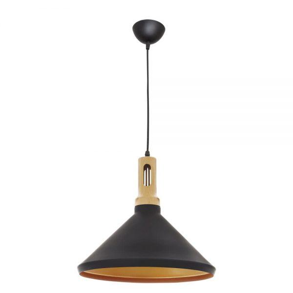 Lámpara colgante negra oro 36 cm Germano 2