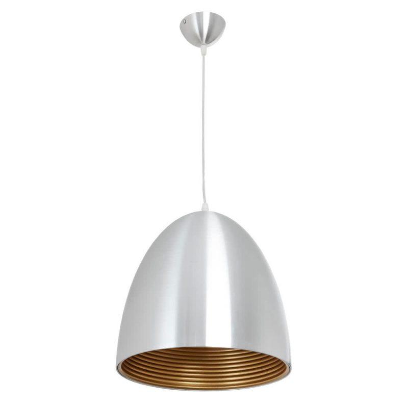 Lámpara colgante aluminio cobre Álvaro