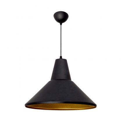 Lámpara colgante aluminio negro Gilberto