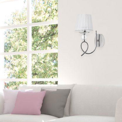 Lámpara pared 1 luz pantalla esféra Rin