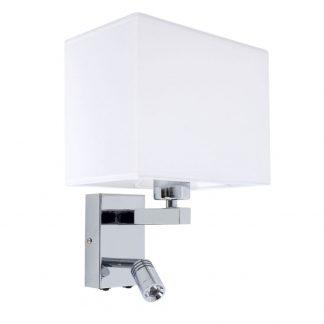 Lámpara pared cromo flexo lectura led pantalla Paradigma