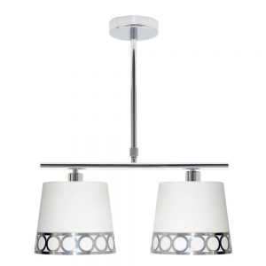 Lámpara lineal pantalla 2 luces Dalia