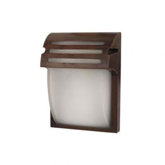 Aplique exterior 1xE27 rectangular cristal curvado Laurel