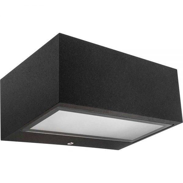 Lámpara pared exterior rectangular Tecno