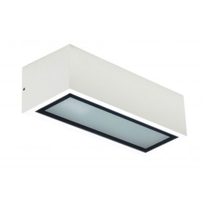 Lámpara pared exterior rectangular 1xE27 Corgo