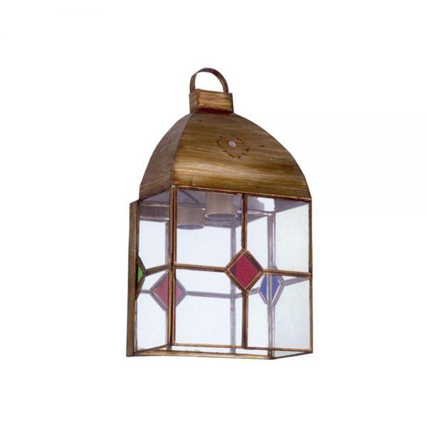 Lámpara pared cristal transparente y color Granadino