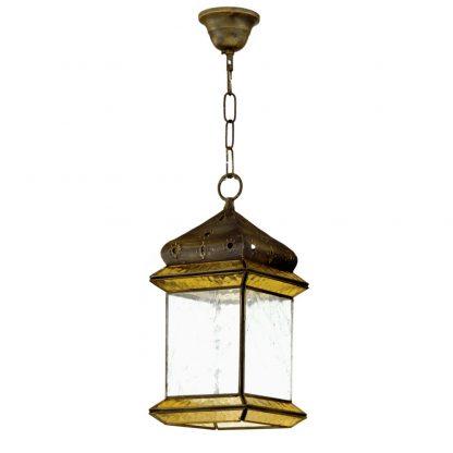 Lámpara colgante cristal Ambarina Artesanía 2