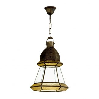 Lámpara colgante cristal Ambarina Artesanía 1