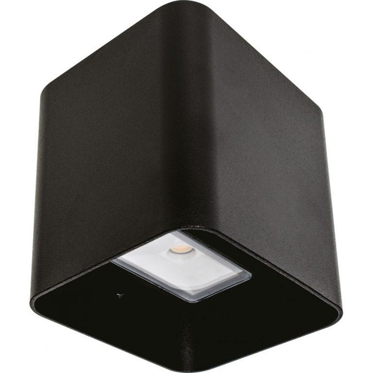 Aplique led 8W rectangular esquinas curvadas Soure