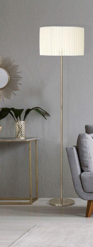 Lámpara de suelo con pantalla textil Durango
