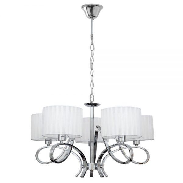 Lámpara 5 luces con pantalla textil Durango