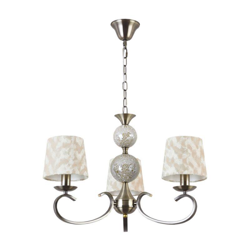 Lámpara 3 luces con pantalla textil Mendoza