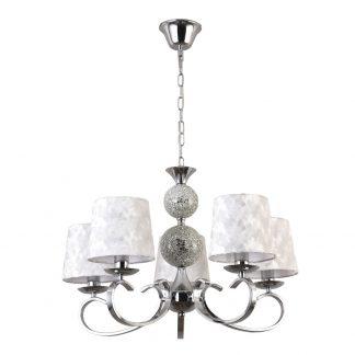 Lámpara 5 luces con pantalla textil Mendoza