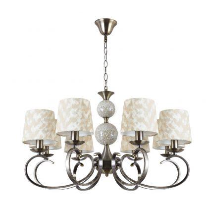 Lámpara 8 luces con pantalla textil Mendoza
